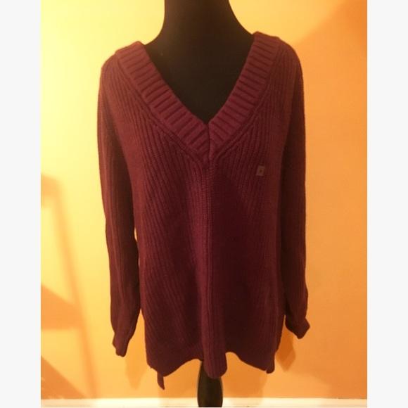Express Sweaters - Express Burgundy Sweater